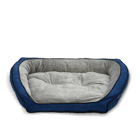 "K&H Pet Products Bolster Couch Pet Bed Large Blue / Gray 28"" x 40"" x 9"" - ViTaiLity Pet Supply"