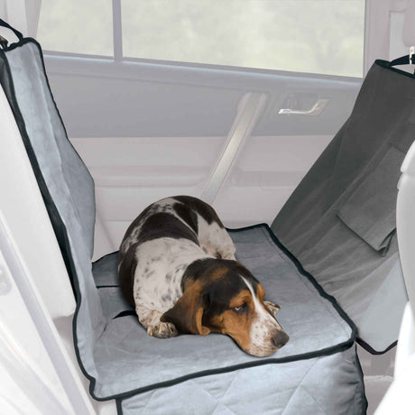 "K&H Pet Products Car Seat Saver Deluxe Extra Long Gray 57"" x 56"" x 0.25"" - ViTaiLity Pet Supply"