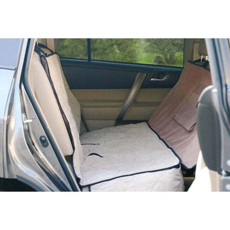 "K&H Pet Products Deluxe Car Seat Saver Tan 54"" x 58"" x 0.25"" - ViTaiLity Pet Supply"