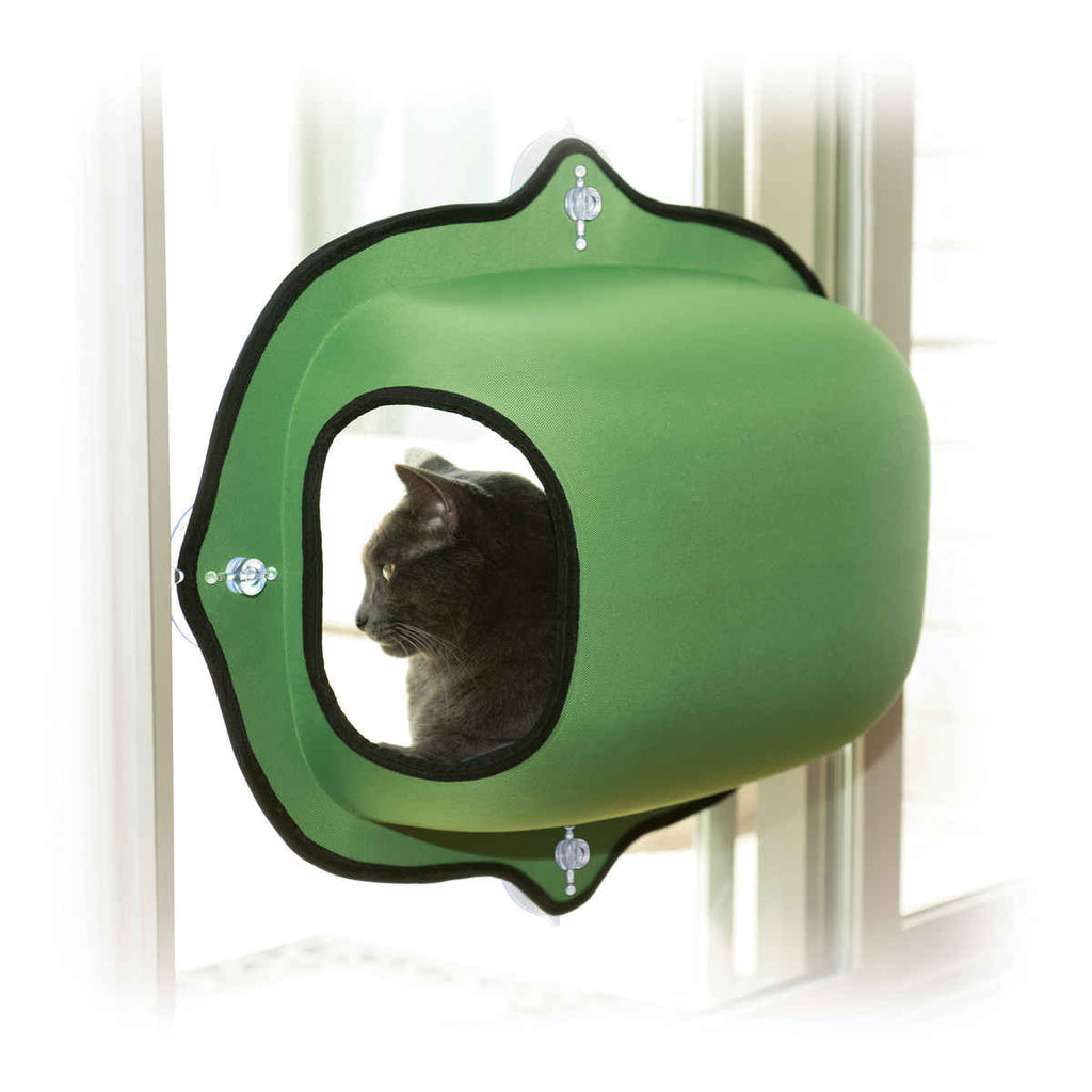 "K&H Pet Products EZ Mount Window Pod Kitty Sill Green 27"" x 20"" x 20"" - ViTaiLity Pet Supply"
