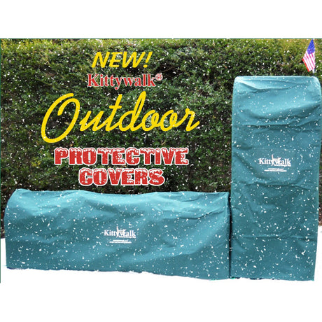"Kittywalk Outdoor Protective Cover for Kittywalk Curves (2) Green 48"" x 18"" x 24"" - ViTaiLity Pet Supply"