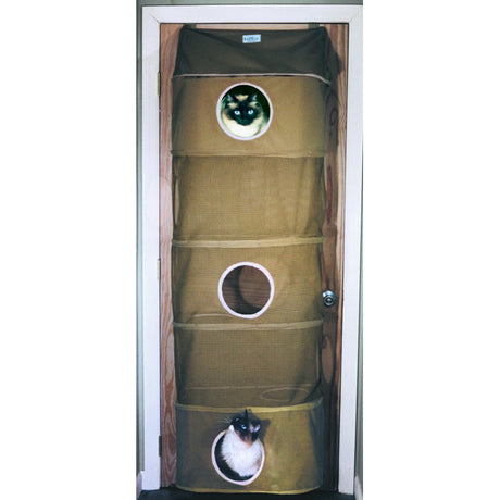 "Kittywalk Cozy Climber Cat House Taupe 13"" x 22"" x 60"" - ViTaiLity Pet Supply"