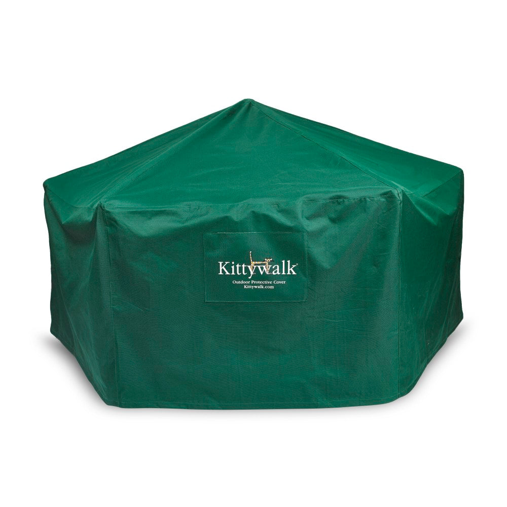 "Kittywalk Outdoor Protective Cover for Kittywalk Gazebo Green 70"" x 70"" 38"" - ViTaiLity Pet Supply"
