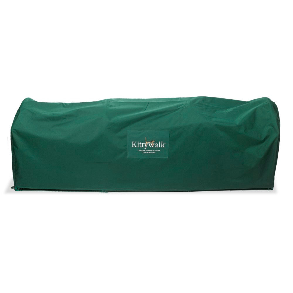 "Kittywalk Outdoor Protective Cover for Kittywalk Lawn Version Green 120"" x 18"" x 24"" - ViTaiLity Pet Supply"
