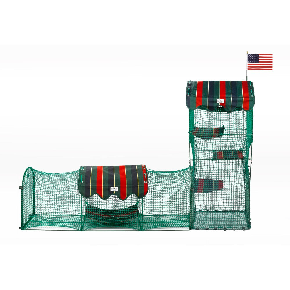 "Kittywalk Town and Country Collection Outdoor Cat Enclosure Green 96"" x 18"" x 72"" - ViTaiLity Pet Supply"
