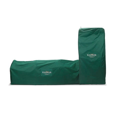 "Kittywalk Outdoor Protective Cover for Kittywalk Town and Country Collection Green 96"" x 18"" x 72"" - ViTaiLity Pet Supply"