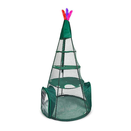"Kittywalk Teepee  Outdoor Cat Enclosure Green 48"" x 48"" x 72"" - ViTaiLity Pet Supply"
