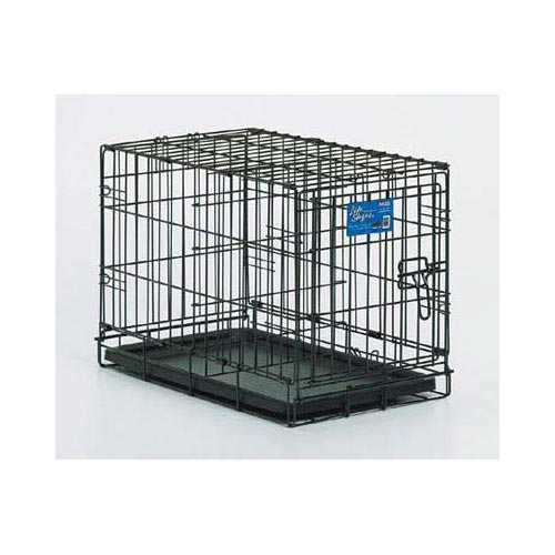 "Midwest Life Stages Single Door Dog Crate Black 22"" x 13"" x 16"" - ViTaiLity Pet Supply"