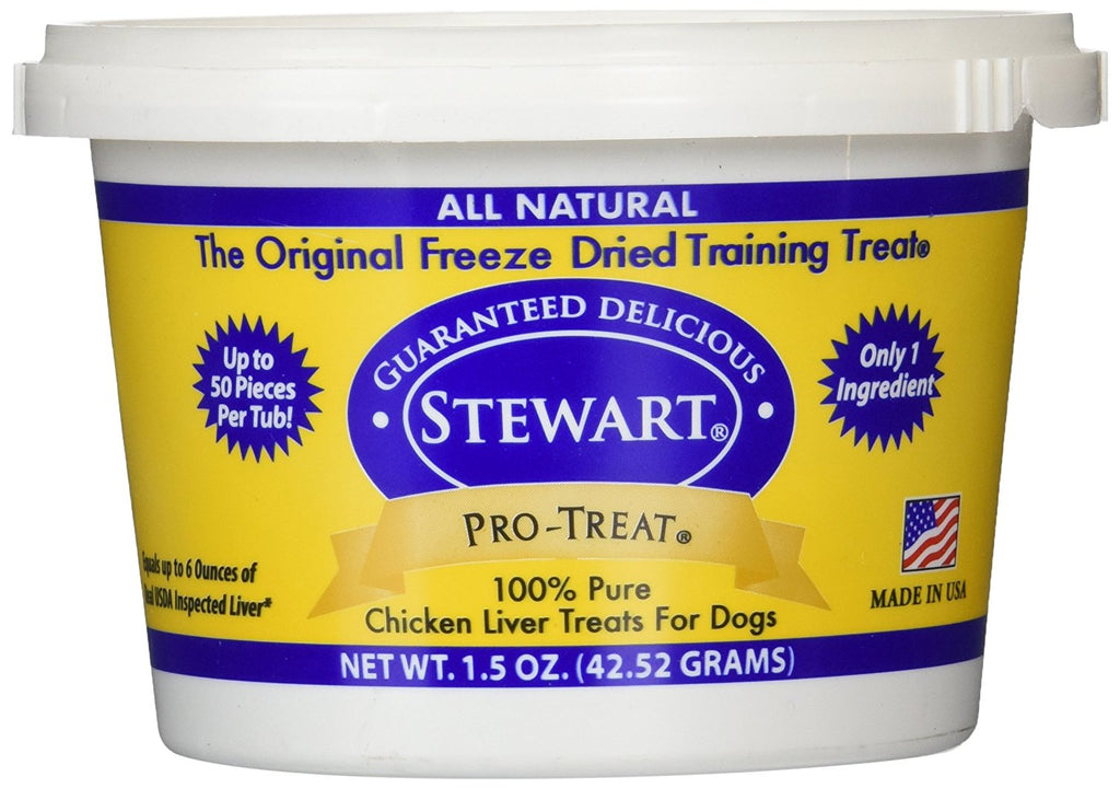 Miracle Corp Stewart Pro-Treat Freeze Dried Chicken Liver 1.5 oz. - ViTaiLity Pet Supply
