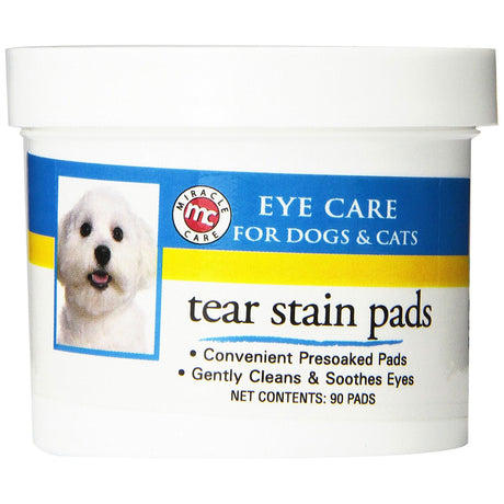 Miracle Corp Eye Clear Tear Stain Pads 90 count - ViTaiLity Pet Supply