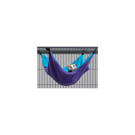 "Midwest Ferret Nation Hammock Hideaway Large Teal / Purple 17"" x 13"" x 8"" - ViTaiLity Pet Supply"