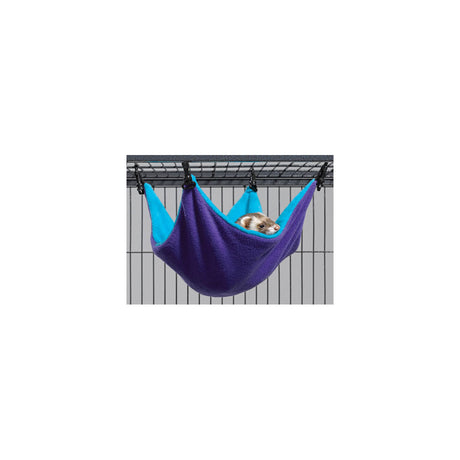 "Midwest Ferret Nation Hammock Hideaway Small Teal / Purple 14"" x 12"" x 6.5"" - ViTaiLity Pet Supply"