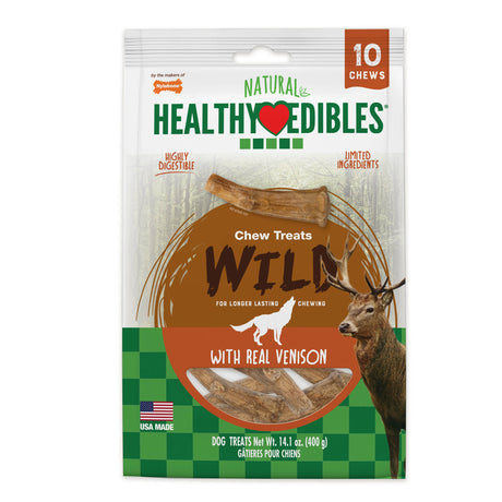 Nylabone Healthy Edibles Antler Real Venison 10 count - ViTaiLity Pet Supply