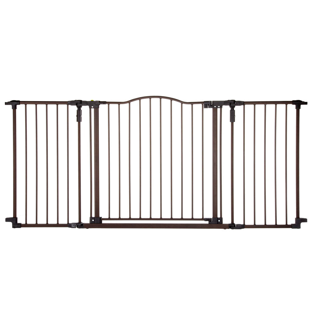 "North States Deluxe Décor Wall Mounted Pet Gate Medium Matte Bronze 38.3"" - 72"" x 30"" - ViTaiLity Pet Supply"