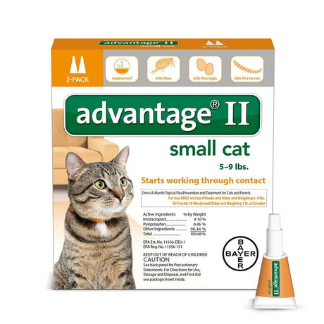 Advantage Flea Control for Cats 1-9 lbs 2 Month Supply - ViTaiLity Pet Supply