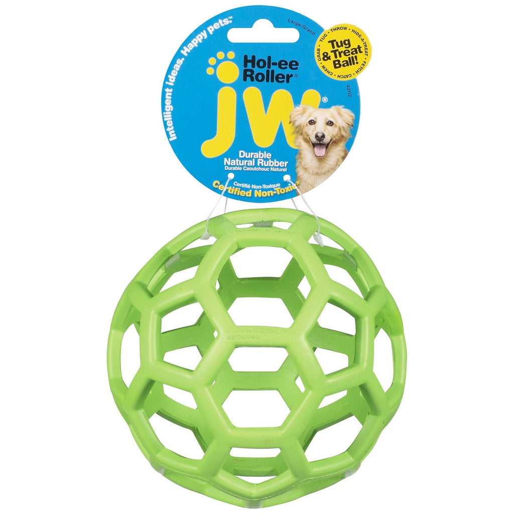 "Petmate JW Hol-Ee Roller Dog Toy Large Assorted 5.5"" x 5.5"" x 5.5"" - ViTaiLity Pet Supply"