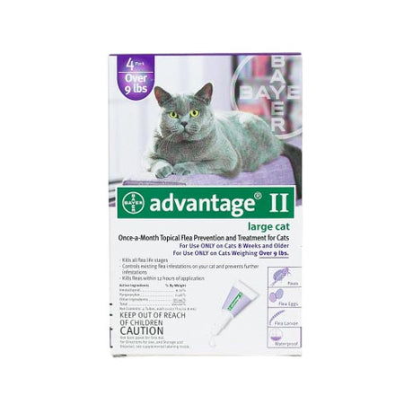 Advantage Flea Control for Cats and Kittens Over 9 lbs 4 Month Supply - ViTaiLity Pet Supply