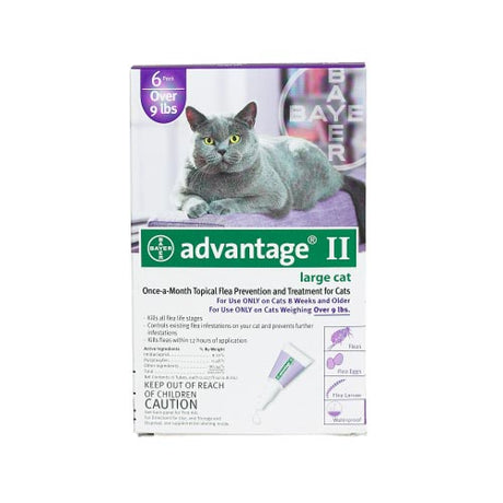 Advantage Flea Control for Cats and Kittens Over 9 lbs 6 Month Supply - ViTaiLity Pet Supply