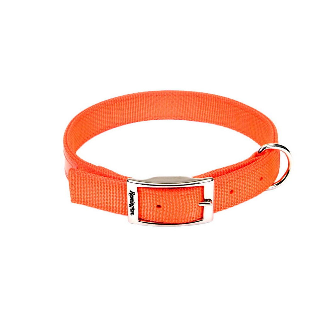 "Remington Double-Ply Reflective Hound Dog Collar Orange 22"" x 1"" x 0.2"" - ViTaiLity Pet Supply"