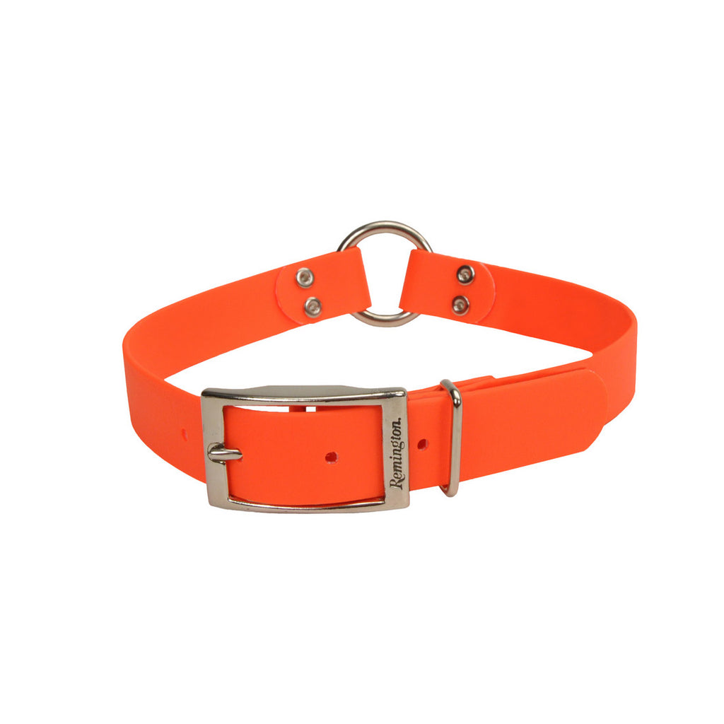 "Remington Waterproof Hound Dog Collar with Center Ring Orange 20"" x 1"" x 0.2"" - ViTaiLity Pet Supply"