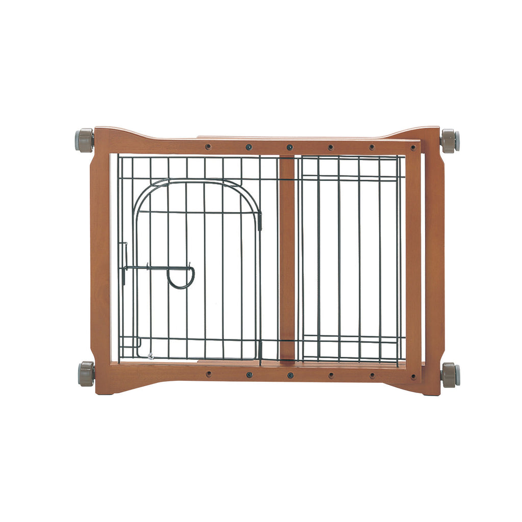 "Richell The Pet Sitter Pressure Mounted Gate Autumn Matte 28.3"" - 41.3"" x 2"" x 20.9"" - ViTaiLity Pet Supply"