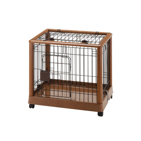 "Richell Mobile Pet Pen 640 Small Autumn Matte 25.2"" x 18.1"" x 22.4"" - ViTaiLity Pet Supply"