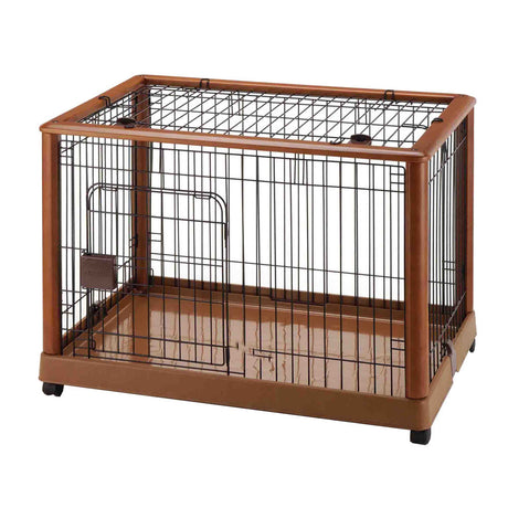 "Richell Mobile Pet Pen 940 Medium Autumn Matte 36.8"" x 24.2"" x 26"" - ViTaiLity Pet Supply"