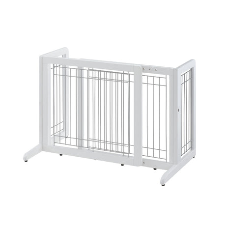 "Richell Freestanding Pet Gate HL Small White 26.4"" - 40.2"" x 17.7"" x 20.1"" - ViTaiLity Pet Supply"