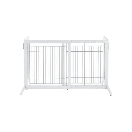 "Richell Freestanding Pet Gate HL White 28.3"" - 47.2"" x 23.6"" x 27.6"" - ViTaiLity Pet Supply"