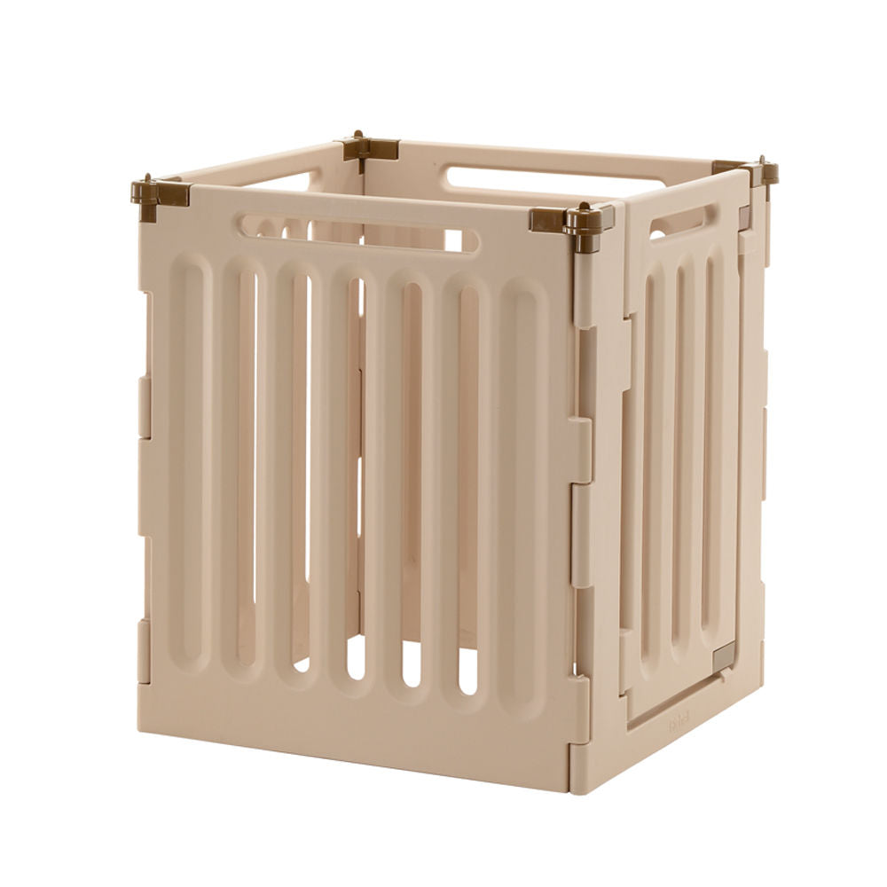 "Richell Convertible Indoor/Outdoor Pet Playpen 4 Panel Tan / Mocha 63.8"" x 33.1"" x 36"" - ViTaiLity Pet Supply"
