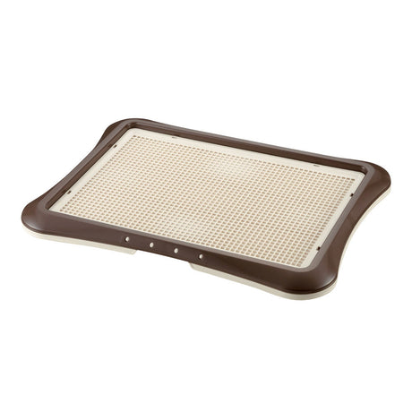"Richell Paw Trax Mesh Training Tray Brown 25.2"" x 18.9"" x 1.6"" - ViTaiLity Pet Supply"
