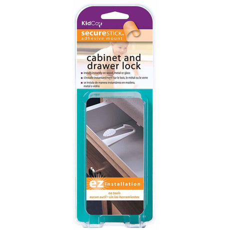 Kidco Adhesive Mount Cabinet and Drawer Lock 3 pack White - ViTaiLity Pet Supply