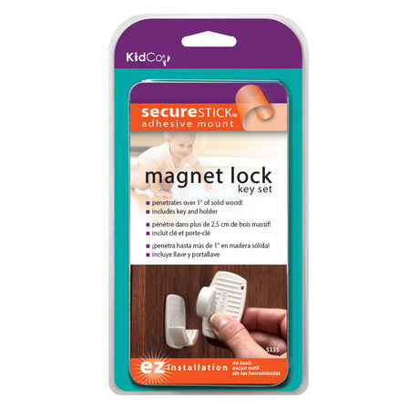 Kidco Magnet Lock and Key Adhesive Mount White - ViTaiLity Pet Supply