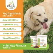 ViTail Krill Formula Shed Free Skin and Coat Krill Oil Treats for Dogs and Cats - ViTaiLity Pet Supply
