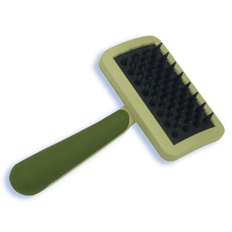"Safari Cat Massage Brush Green 6.5"" x 3.2"" x 2"" - ViTaiLity Pet Supply"