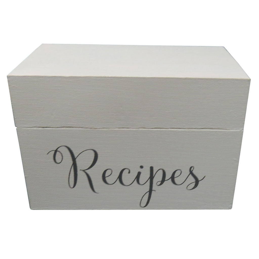 Recipe box white with divider cards random harvest marketplace recipe box white with dividers thecheapjerseys Images