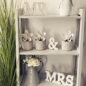 SASS & BELLE Mr and Mrs Wooden Letters