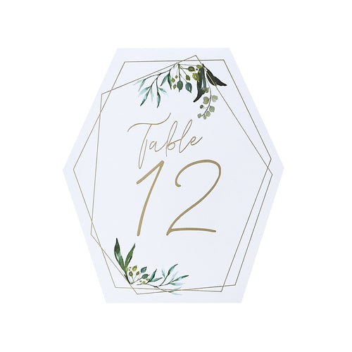 Botanics Table Numbers