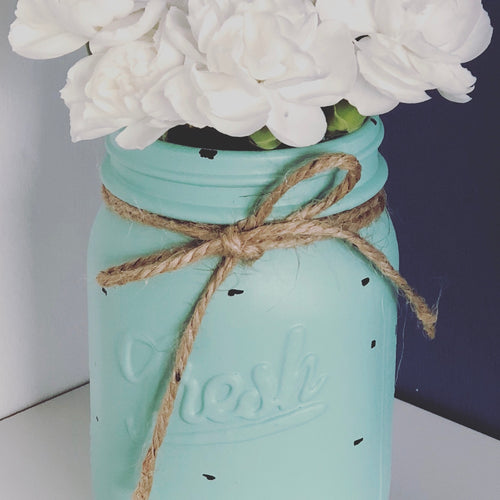 Mint Rustic Mini Jar