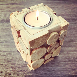 Wooden Tealight Holder