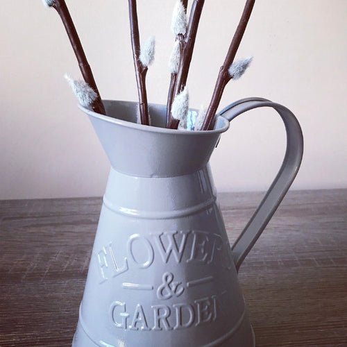 Grey Flowers & Garden Jug