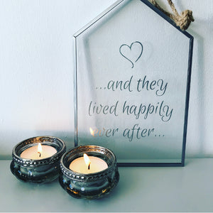 Happily Ever After Glass Sign
