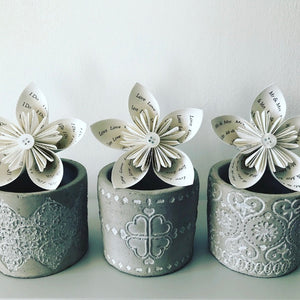 Grey Pattern Tealight Holder