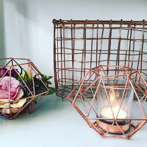 SASS & BELLE Set of 2 Copper Wire Baskets