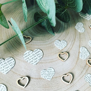 GINGER RAY Handmade Vintage Heart Confetti
