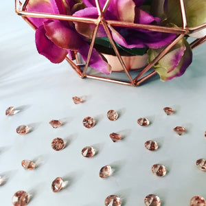Rose Gold Table Crystals
