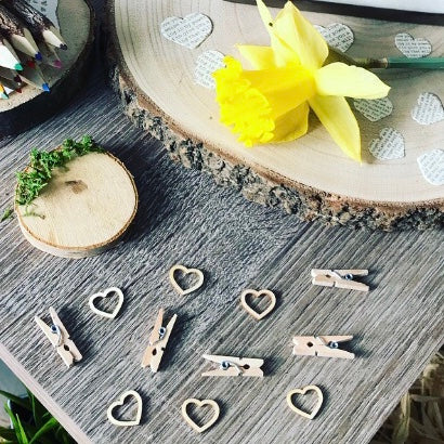 Love Heart Wooden Confetti