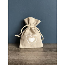 Heart Hessian Favour Bag