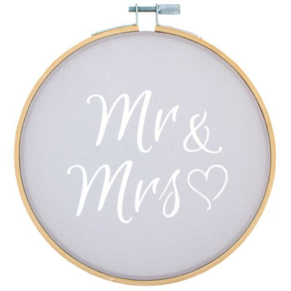 Mr & Mrs Hoop Decoration