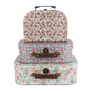 SASS & BELLE Set of 3 Vintage Floral Suitcases
